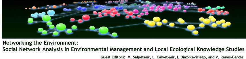 Networking the Environment: Social Network Analysis in Environmental  Management and Local Ecological Knowledge Studies