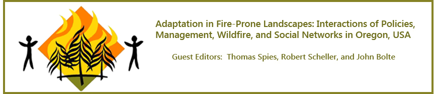 Adaptation in Fire-Prone Landscapes: Interactions of Policies,  Management, Wildfire, and Social Networks in Oregon, USA