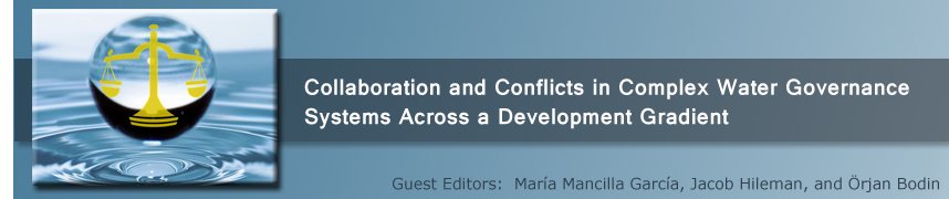Collaboration and conflicts in complex water governance systems across a development gradient
