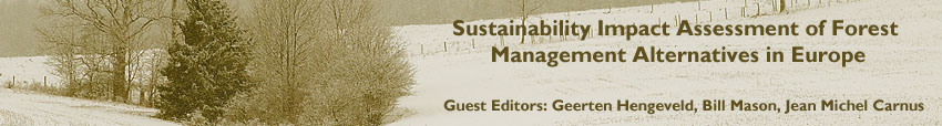 Sustainability Impact Assessment of Forest Management Alternatives in Europe