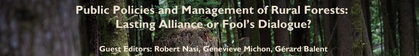 Public policies and management of rural forests:  lasting alliance or fool�s dialogue?