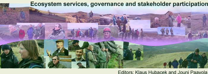 Ecosystem Services, Governance, and Stakeholder Participation