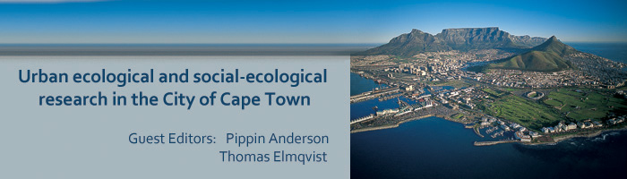 Urban ecological and social-ecological research in the City of Cape Town