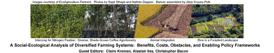 A Social-Ecological Analysis of Diversified Farming Systems: Benefits, Costs, Obstacles, and Enabling Policy Frameworks