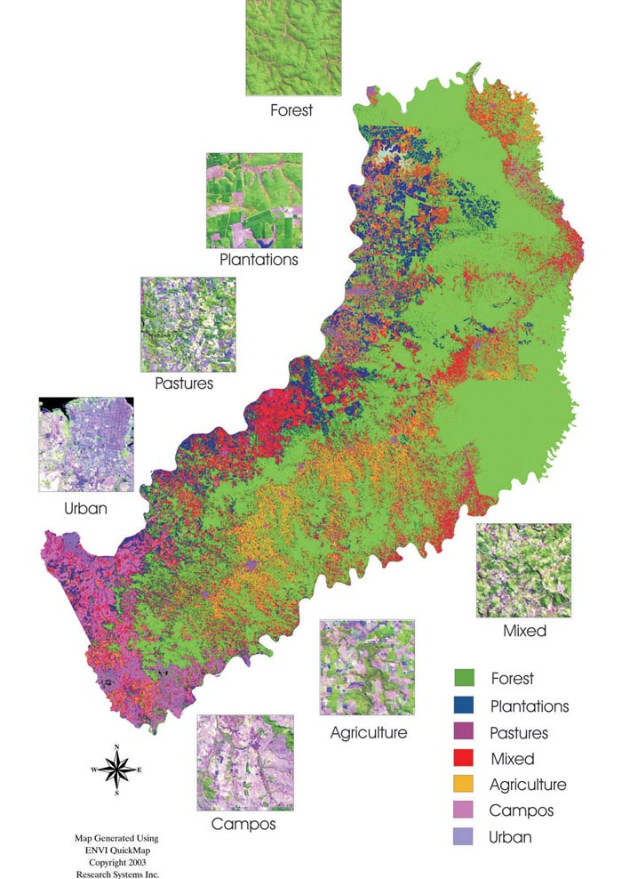 Ecology And Society Thirty Years Of Human Demography And Landuse - Argentina misiones map
