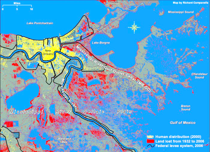 mississippi river gulf outlet map Ecology And Society Coupled Vulnerability And Resilience The mississippi river gulf outlet map