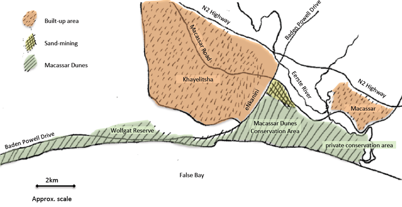 Fig 2 Macassar Dunes And Surrounding Area Showing The
