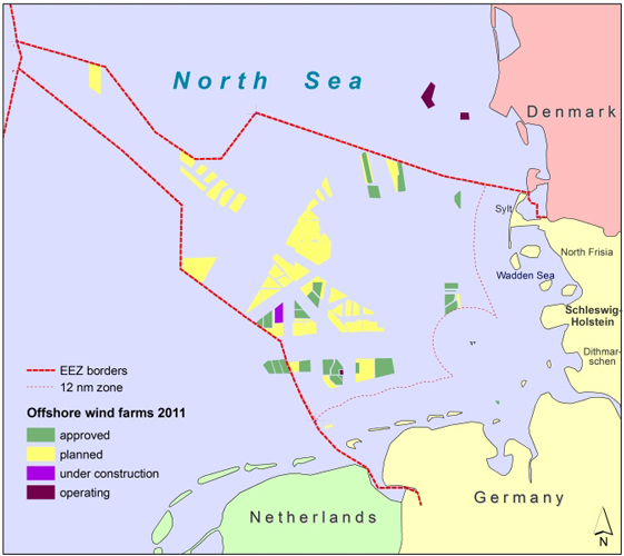 Map Of Germany North Sea.Fig 1 The Case Study Area Comprising The Administrative Districts