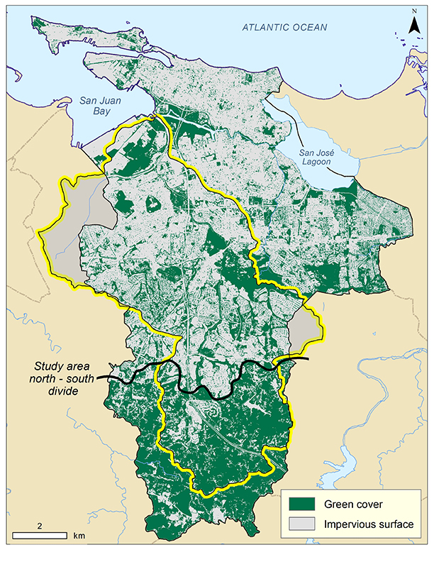 Fig 1 Map Of The Green Areas Of The Municipality Of San Juan