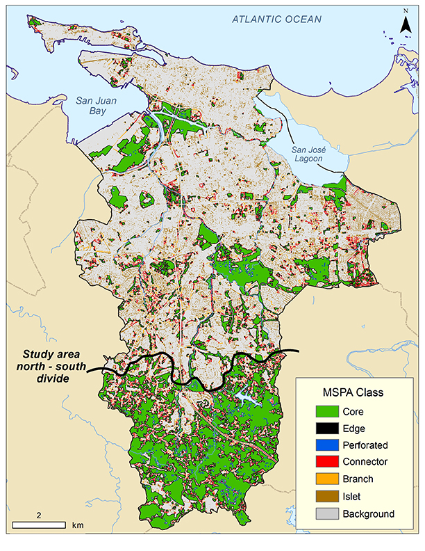 Fig 40 Geographic Distribution Of Green Cover Spatial Patterns In Unique Spatial Pattern