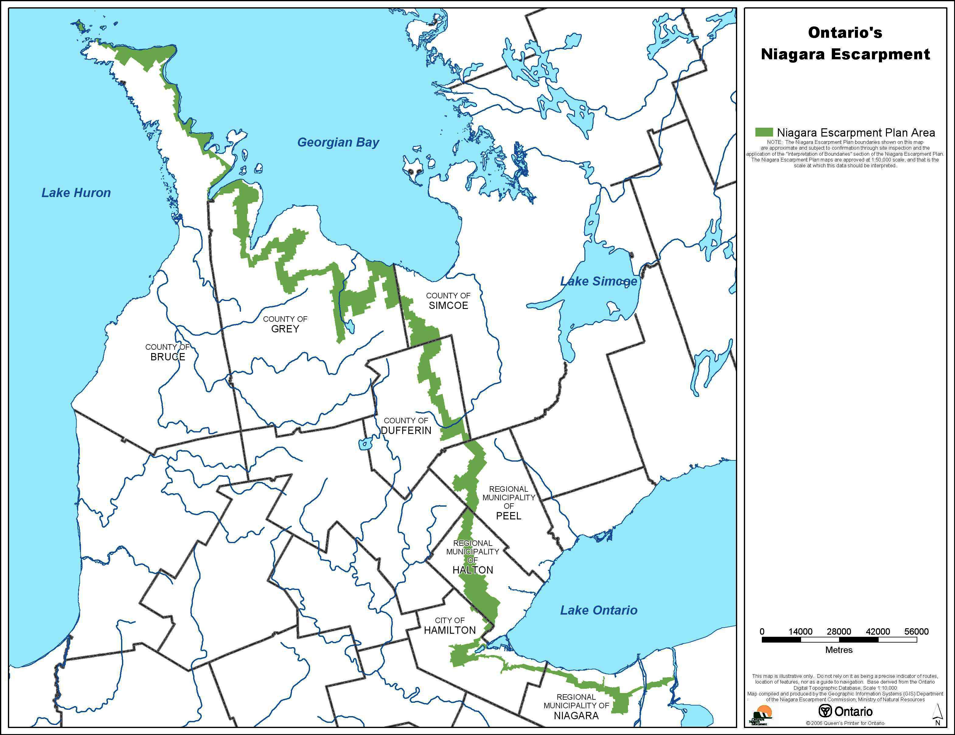 Fig. 3. Niagara Escarpment pla...