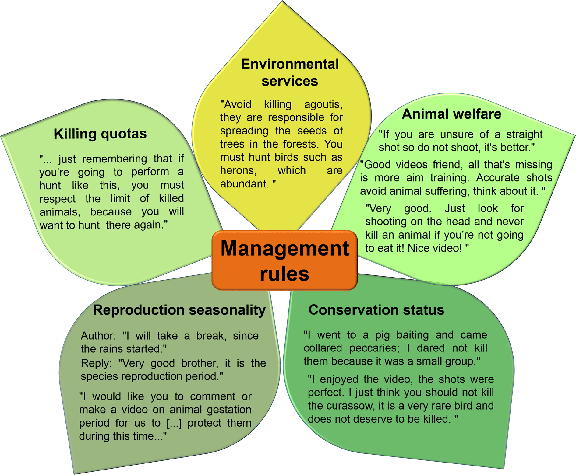 five rules of management