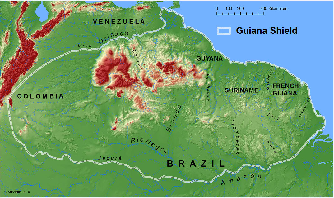 Fig 2 Map Of The Guiana Shield South America Kindly Drawn By