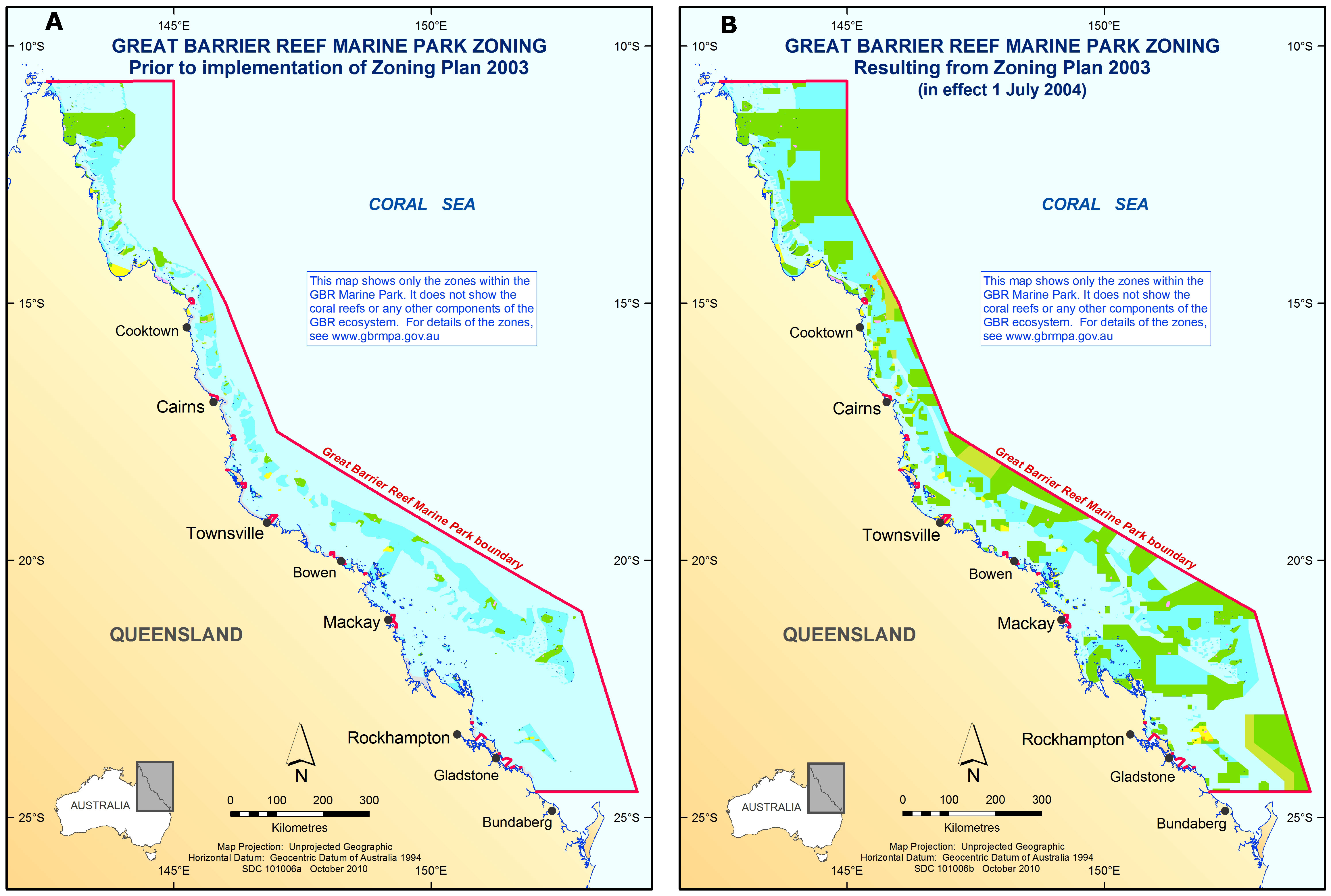Fig 1 Great Barrier Reef Marine Park Before A And After