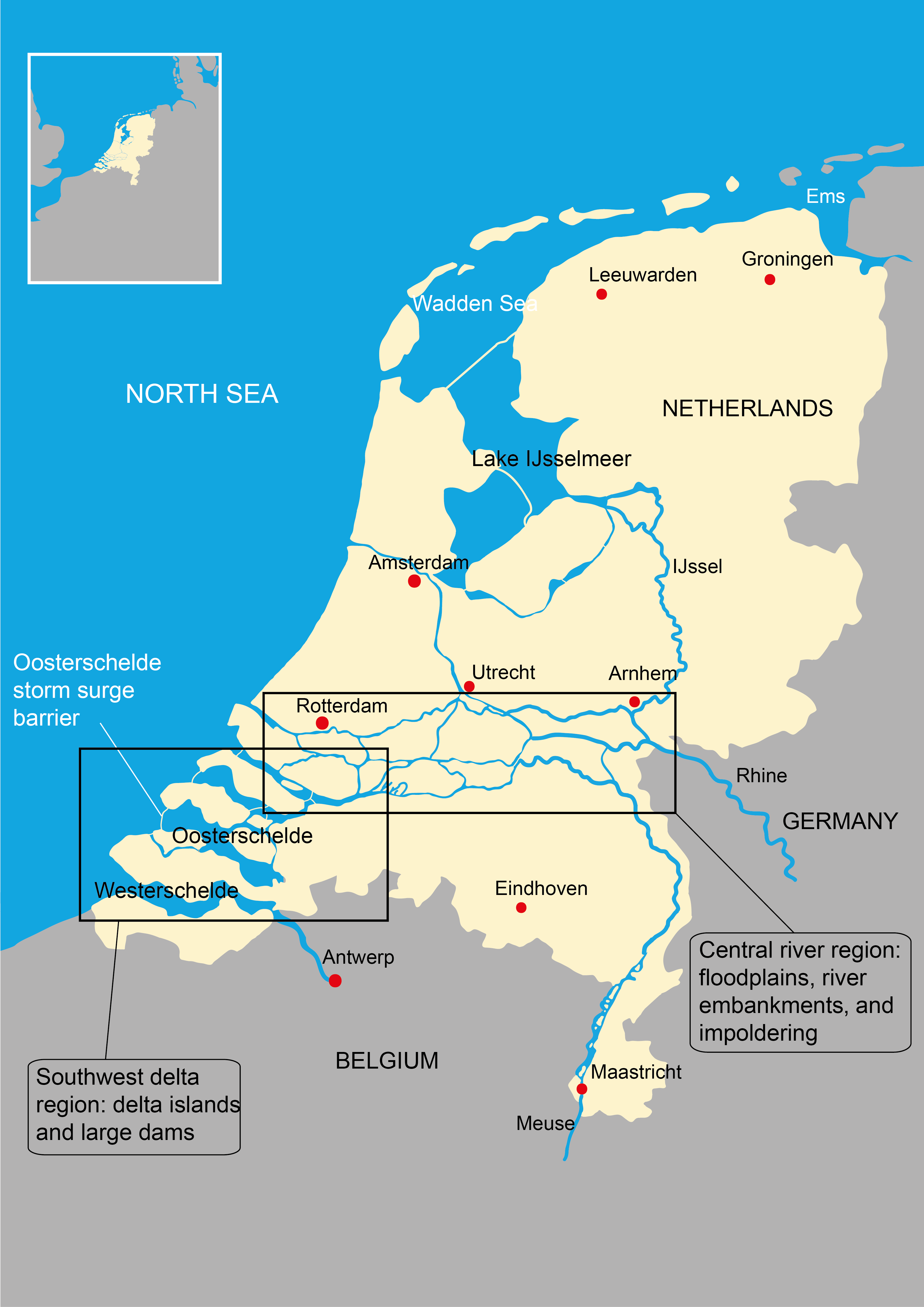Fig The Netherlands Located In Northwest Europe Source - Where is the netherlands located