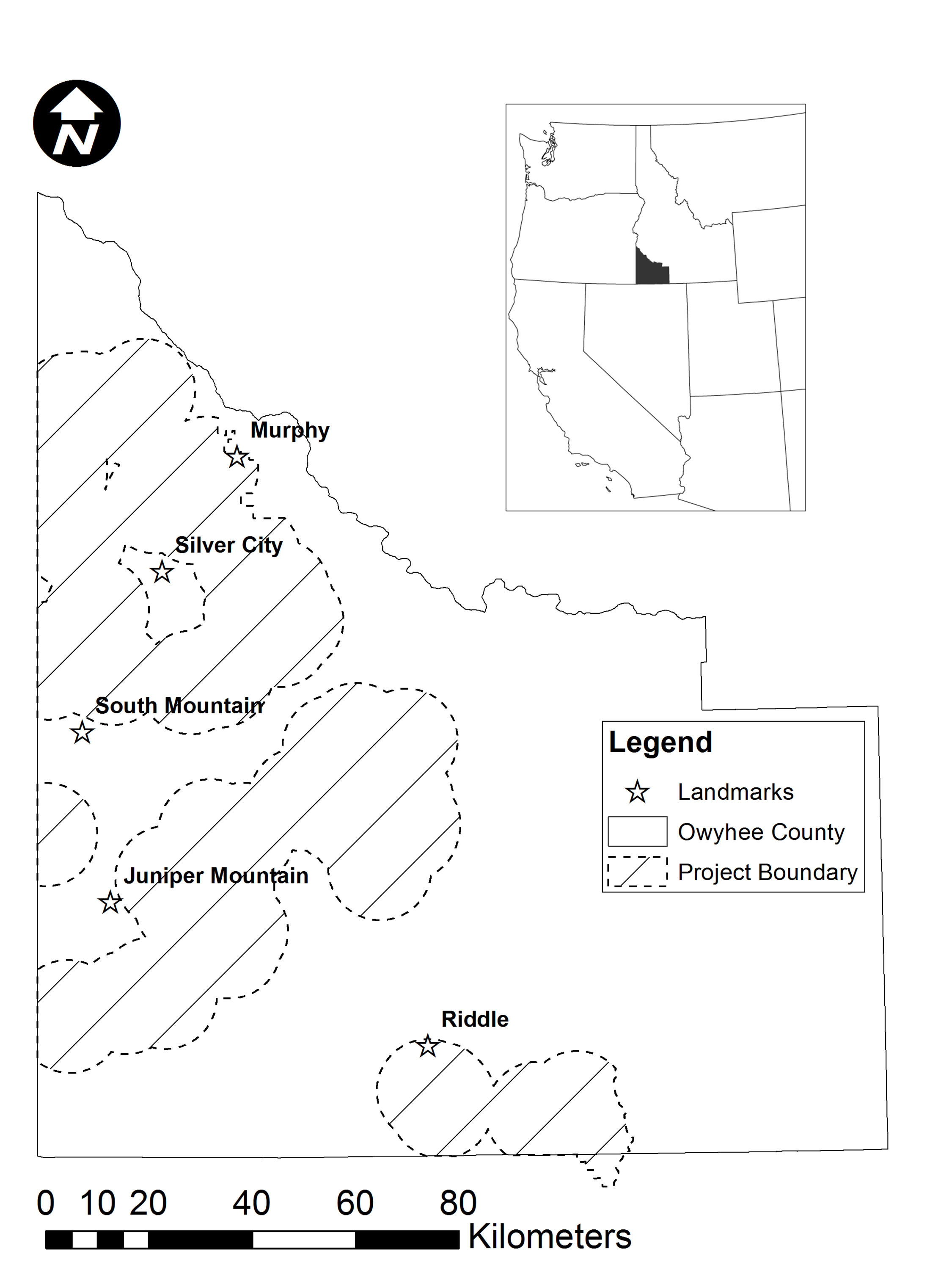 silver city idaho map Fig 1 Map Of Owyhee County Idaho Usa Showing The Proposed silver city idaho map