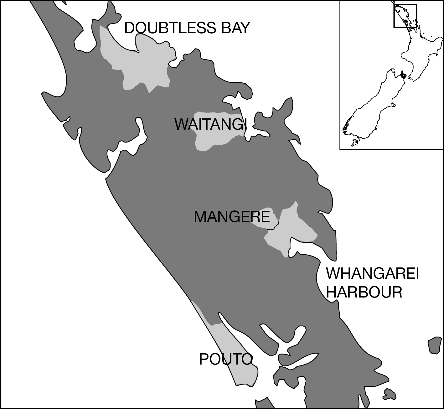Northland New Zealand Map.Fig 2 Map Showing Location Of Collaborative Catchment Groups