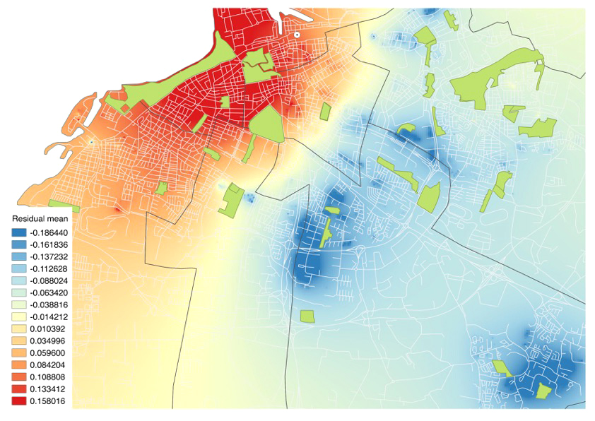 Fig Malmö Heat Map Based On Residuals Extracted From A - What does map pricing mean