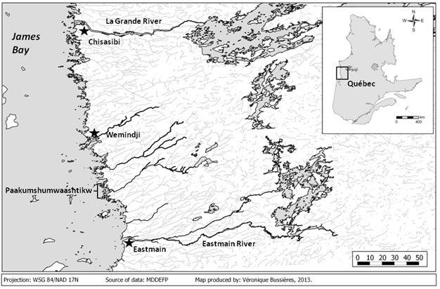 Map Of Northern Quebec Canada.Fig 1 Map Of Eastern Eeyou Istchee Northern Quebec Canada