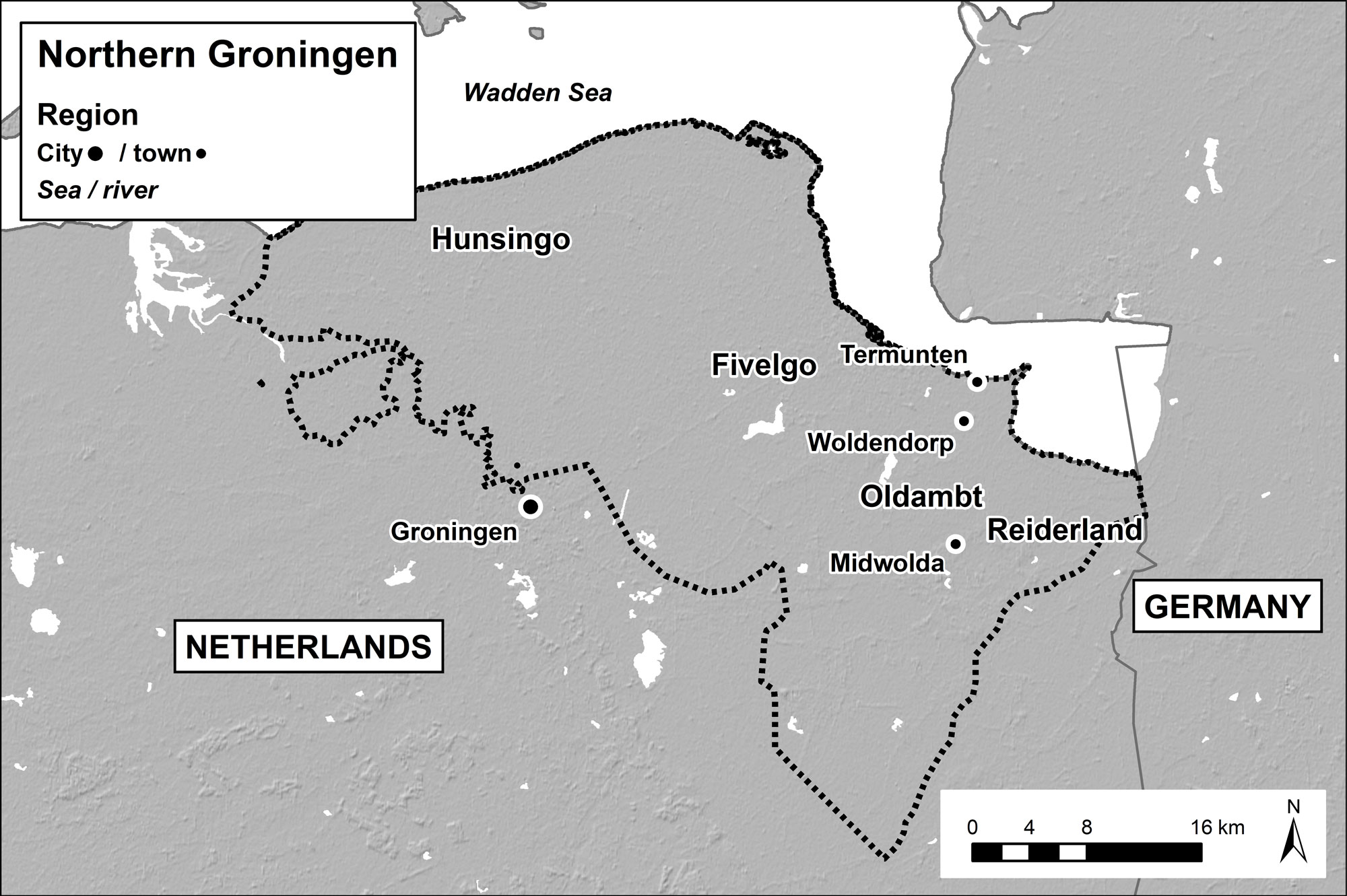Fig. 4. Map of Northern Groningen, indicating the localities ...